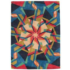 Blue + Pink Scope Rug by Donna Wilson 2010
