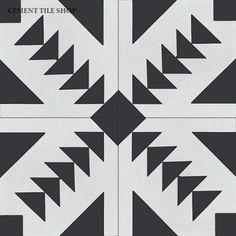 Black and white tile - Cement Tile Shop - Encaustic Cement Tile Tulum Hex Tile, Mosaic Tiles, Wall Tiles, Subway Tile, Kitchen Mosaic, Tiling, Kitchen Backsplash, Bar Noir, Black And White Tiles