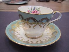 Vintage Aynsley Bone China Rose Pattern Gold Filagree Demitasse Cup Saucer | eBay