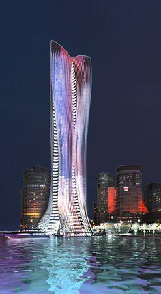 Michael Schumacher World Champion Tower Abu Dhabi by Chris Bosse and Tobias Wallisser, LAVA Architects