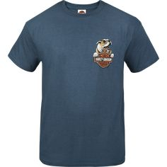 Harley-Davidson - Dogs Life Mens Shirt - Short Sleeve Blue - R002451