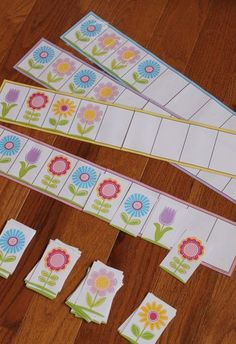 Flower Power Pattern Boards - make monsters for rex Preschool Themes, Montessori Activities, Preschool Activities, Graphing Activities, Fun Learning, Learning Activities, Math Patterns, Spring School, Spring Activities