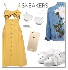 """""""White Sneakers"""" by fashion-bea-16 ❤ liked on Polyvore featuring Sea, New York, Puma and Victoria Beckham"""