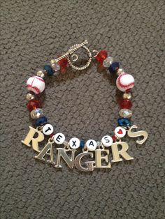 Texas rangers baseball jewelry bracelet accessories