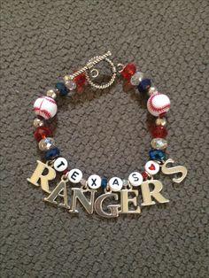 Texas rangers baseball jewelry bracelet accessories