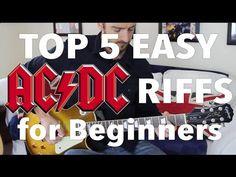 5 EASY AC/DC Songs for Beginner Guitar - YouTube