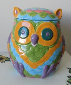 Owl Cookie Jar.