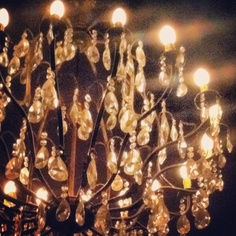 the chandelier at the speakeasy, frank's, in Palermo Hollywood