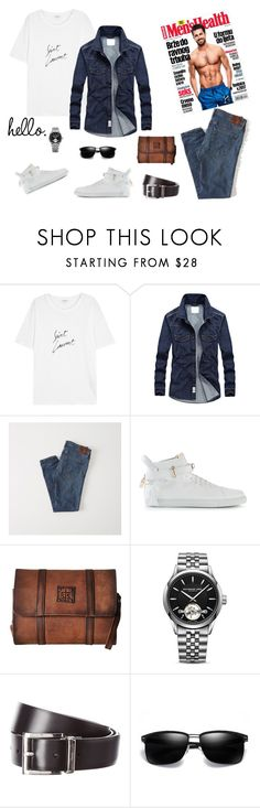 """""""hello world"""" by denisahad ❤ liked on Polyvore featuring Yves Saint Laurent, Abercrombie & Fitch, BUSCEMI, STS Ranchwear, Raymond Weil, Prada, men's fashion and menswear"""