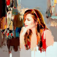 Por amor al arte: Josef Kote Woman Painting, Figure Painting, L'art Du Portrait, Figurative Kunst, Inspiration Art, Abstract Painters, Beautiful Paintings, Contemporary Artists, Female Art