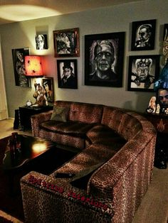 Below are the Inspiring Gothic Living Room Design Ideas. This post about Inspiring Gothic Living Room Design Ideas was posted under the Living Room category by our team at July 2019 at pm. Hope you enjoy it and . Goth Home Decor, Retro Home Decor, Rockabilly Home Decor, Gothic Living Rooms, Living Room Designs, Living Room Decor, Living Area, Horror Room, Horror House