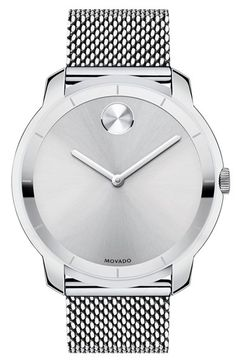 Movado 'Bold' Mesh Strap Watch, 44mm available at #Nordstrom