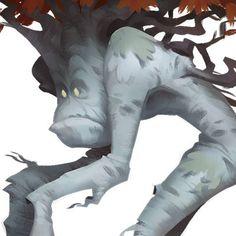 Oozing Crucible: Birchmen, Nasan Hardcastle on ArtStation at https://www.artstation.com/artwork/W1WDD