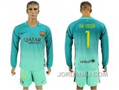 http://www.jordanaj.com/barcelona-1-ter-stegen-sec-away-long-sleeves-soccer-club-jersey.html BARCELONA #1 TER STEGEN SEC AWAY LONG SLEEVES SOCCER CLUB JERSEY Only $20.00 , Free Shipping!