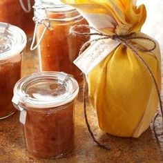 Spiced Pear Jam Recipe -Years ago, my in-laws had three pear trees on their acreage and gave us all the fruit that we wanted to pick. So I canned <I>plenty</I> of pears. Then a neighbor passed along this favorite recipe.  I've given many jars of this jam as gifts. Day to day, we enjoy it on toast with ham and eggs or on hot rolls with a meat. —Karen Bockelman, Portland, Oregon