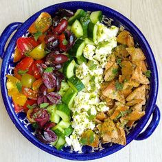 Mediterranean Salad with Lemon-Herb Vinaigrette  - Delish.com
