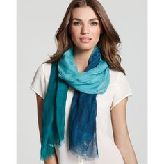 Sonia Rykiel Colorblocked Casual Scarf ($235) ❤ liked on Polyvore