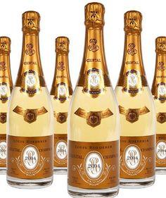 6 x Louis Roederer Cristal 2004 Champagne 75cl Bulk Buy Special