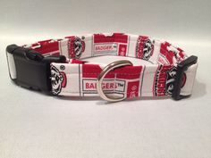 Wisconsin Badger Dog Collar by ALeashACollar on Etsy