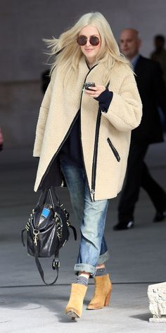 Fearne Cotton in H&M coat