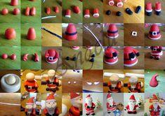 Père Noël en pâte à sucre - sugarpaste Santa Claus - Ma petite pâtisserie