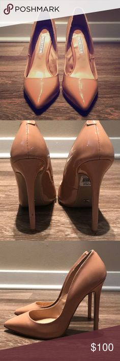 Tony Biano Nude Patent Leola SZ 7.5 Tony Bianco Nude Patent SZ 7.5 Worn Once Tony Bianco Shoes Heels