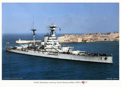 Lovely colourised photo of HMS Resolution, in her early guise, entering Malta's grand Harbour | Flickr - Photo Sharing!