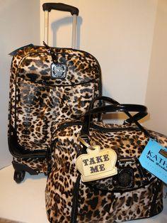 Kathy van zeeland cheetah luggage set i do need to get me