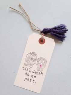 Till Death Do Us Part Gift Tag - Till Death Do Us Part Card - Day of the Dead Theme Wedding