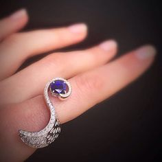 #scavia #ring #diamond #sapphire #design #style #jewelry #handmadejewelry #italianexcellence