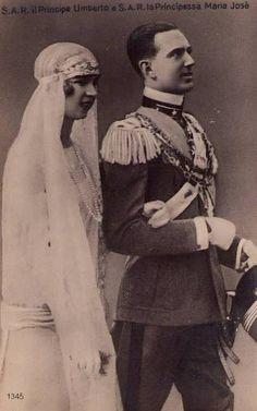 Crown Prince Umberto of Italy with Princess Marie Jose of Belgium (an aquamarine diadem) | Flickr - Photo Sharing!