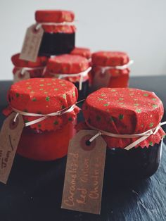 Annie's Hungry: Homemade Christmas Gifts. Chilli jam caramelised red onion chutney salted caramel filled chocs and peanut butter fudge