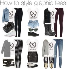 how to style graphic tees / graphic t shirts outfit