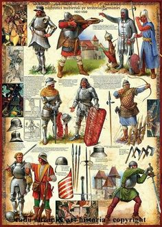Armour types Eastern Europe - Advice please! Medieval World, Medieval Knight, Medieval Armor, Medieval Times, Medieval Fantasy, Armadura Medieval, Military Art, Military History, Costume Français