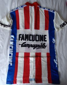 9003540be Rare Vintage Famcucine Campagnolo 1980 s cycling jersey
