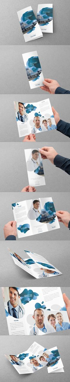 Medical Trifold Design by Abra Design, via Behance