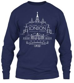 Don't Forget London A Dream 1922 Navy Long Sleeve T-Shirt Front