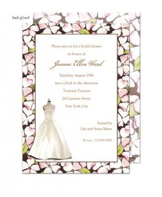 Floral Dress Form Wedding Shower Invitation