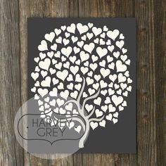 Wedding Guest Book Tree // Modern Guestbook by HARVEYGREY on Etsy