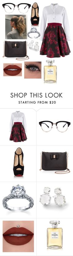 """""""Untitled #4841"""" by originaltwfan ❤ liked on Polyvore featuring Closet, Christian Louboutin, Ted Baker, Ippolita and Chanel"""