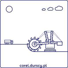 Kombajn górniczy (detal tryptyku) #corel_durscy_pl #durskirysuje #corel #coreldraw #vector #vectorart #illustration #draw #art #digitalart #graphics #flatdesign #flatdesign #icon #przemysł #fabryka #kopalnia #industry #factory #mine #kombajm #tryptyk #triptych #silesia #slask #detail Math Equations, Illustration, Art, Art Background, Kunst, Illustrations, Performing Arts, Art Education Resources, Artworks