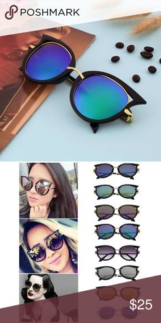 Cateye Women Sunglasses Blue Green Polarized 400 UV Protection. Brand New. Good Quality. Color Blue/ Green. Accessories Sunglasses