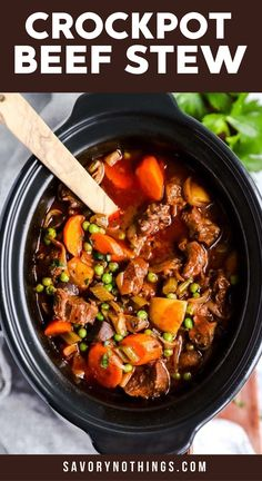 Serve up a hot meal without the fuss for your family tonight: This crock pot beef stew is the perfect easy comfort food. It is simple to prepare in the slow cooker, made entirely from scratch for a healthy dinner! It is the best kind of slow cooker meal you can sit down to. | #recipes #easyrecipes #dinner #easydinner #slowcooker #crockpot #stew #beef #beefrecipes #beefstew #slowcookerrecipes #crockpotrecipes #healthyfood #healthyrecipes #healthyeating #healthycooking Best Crockpot Beef Stew, Slow Cooker Beef, Best Slow Cooker, Crockpot Meals, Rice Cooker, Beef Recipes, Healthy Recipes, Recipies, Slow Cooker Recipes