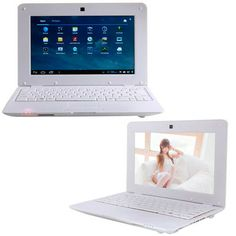 7-inch Slim Light Weight Trendy Mini Laptop SOLID WHITE. Built-in WiFi and Ethernet Port to Access the Internet. Pre-Installed with ToonGoggles Cartoon Videos, NETFLIX, YouTube, Facebook, Twitter and Writing applications.Installed with 2 USB Ports, SD Card Slot, HDMI Port and a built in Camera. #Wolvol #Minilaptop