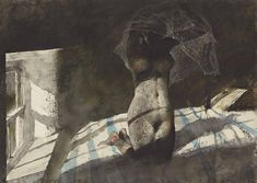 Andrew Wyeth - Winfields (1977) - compare with Heat Lightning