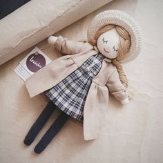This doll was handmade with love and care. Plush Dolls, Doll Toys, Baby Dolls, Doll Crafts, Diy Doll, Fabric Doll Pattern, Doll Patterns, Homemade Dolls, Fabric Toys