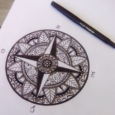 Little update #shades Compass mandala