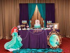 Princess Ariel Theme Birthday Birthday Party Ideas | Photo 6 of 35