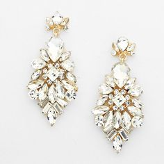 Iris Vintage Crystal Drop Bridal Earrings