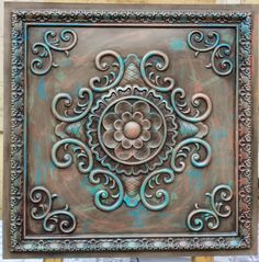 Lot On At Reasonable Prices Faux Finishing Tin Ceiling Tiles Antique Multicoloured Color Three Dimentional Decorative Board Panels From